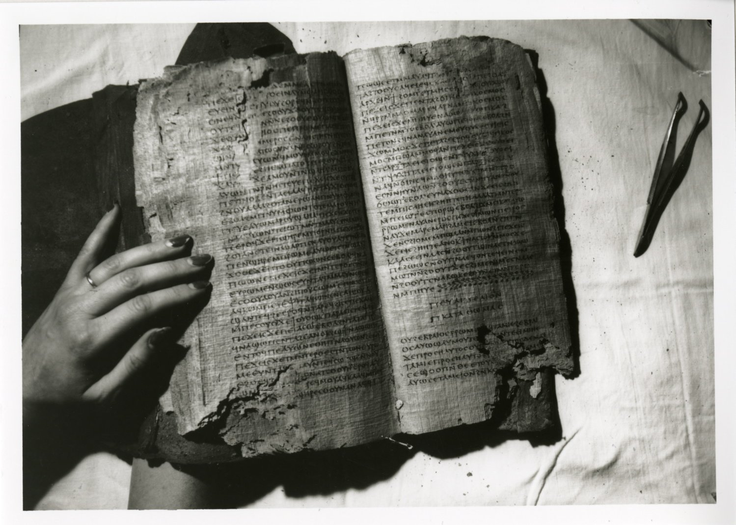 nag hammadi library dating Nag hammadi näg hä´mädi [key], a town in egypt near the ancient town of chenoboskion, where, in 1945, a large cache of gnostic texts in the coptic language was discovered the nag hammadi manuscripts, dating from the 4th cent ad, include 12 codices of tractates, one loose tractate, and a copy.
